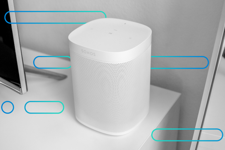 Sonos speaker system with an abstract background